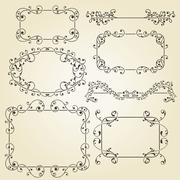 Stock Illustration of vector lacy  vintage floral  design elements