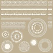 vector lacy vintage design elements - stock illustration