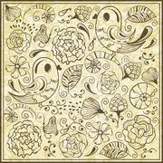 Stock Illustration of vector  spring pattern