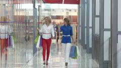 Shoppers - stock footage