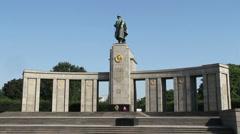 Berlin Tiergarten WWII Memorial Stock Footage