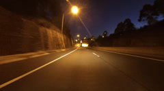 driving around sydney - lane cove tunnel - stock footage