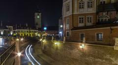 Sibiu Kleiner ring HD corrected Stock Footage