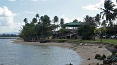 Coastal tropical park San Juan Puerto Rico HD 0627 Stock Footage