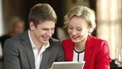 Couple With Tablet Stock Footage
