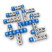 Hacker aattack Stock Illustration