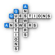 Question and answers Stock Illustration