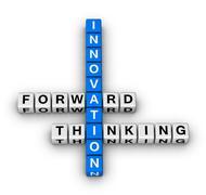 forward thinking innovation - stock illustration