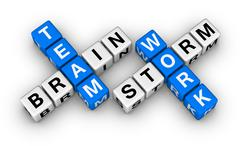 Brainstorm and teamwork Stock Illustration