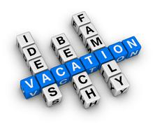 Ideas beach family vacation Stock Illustration