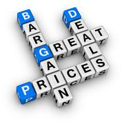 Great deals and bargain prices Stock Illustration