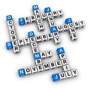 all months of the year - stock illustration