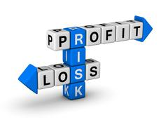 risk - profit and loss - stock illustration