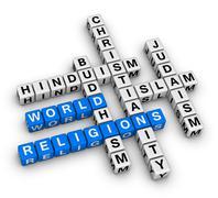 Major world religions Stock Illustration