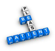 please be patient - stock illustration