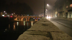 "Latin Bridge (Bosnian: Latinska ćuprija, named Principov most - ""Princip Bridge"" Stock Footage"