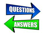 Stock Illustration of questions and answers in arrows