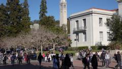 Students UC Berkeley campus Stock Footage