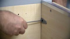 Screwing a screw Stock Footage