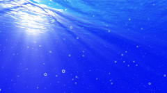 4K Underwater Bubbles Big 40 seconds LM11 Loop Sunlight - stock footage