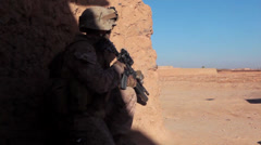 Marines Firefight During Lethal Aid Interdiction in Afghanistan Stock Footage