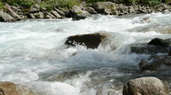 River at Krimml Waterfalls. (Austria) Stock Footage