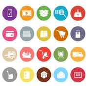 Shipment flat icons on white background Stock Illustration
