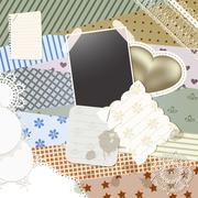 vector scrapbook template design - stock illustration