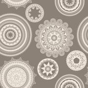 Vector seamless pattern with lacy napkins Stock Illustration
