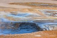 Stock Photo of hot mud pots in the geothermal area hverir, iceland