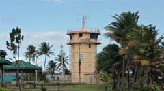 Military radar control tower San Juan Puerto Rico HD 0629 Stock Footage