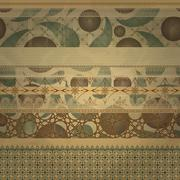 Stock Illustration of vector  retro seamless  patterns on abstract seamless background on old paper