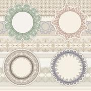 Stock Illustration of vector  lacy napkins on seamless pattern