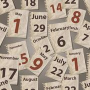 vector seamless pattern with calendar torn away sheets - stock illustration