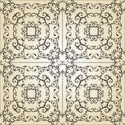 vector vintage seamless pattern - stock illustration