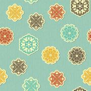 Stock Illustration of vector seamless pattern with  highly detailed paper cut snowflakes