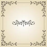 vector vintage frame and label - stock illustration