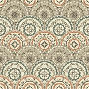Stock Illustration of vector seamless vintage oriental pattern