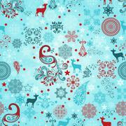 Stock Illustration of vector seamless christmas pattern