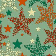 Stock Illustration of vector seamless pattern with christmas stars