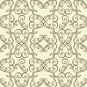 Stock Illustration of vector  seamless floral pattern
