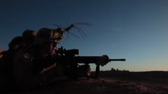 Marines in a  Firefight in Afghanistan Stock Footage