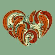 Stock Illustration of vector stylized heart