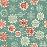 Stock Illustration of vector seamless winter pattern with snowflakes