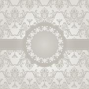 Stock Illustration of vector seamless vintage wallpaper pattern with frame for your text