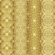 vector seamless golden patterns, oriental style - stock illustration