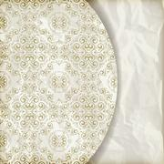 Stock Illustration of vector retro background with vintage  floral pattern, place for your text