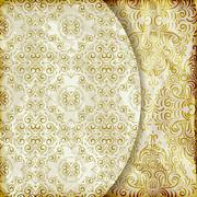 Stock Illustration of vector retro background with vintage floral patterns