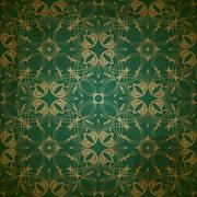 Stock Illustration of vector seamless floral golden pattern on grungy background with crumpled pape