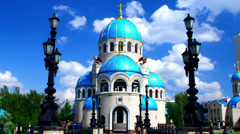 Temple of the holy trinity Stock Footage